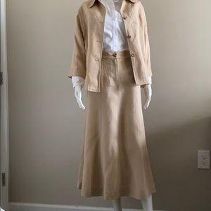 NWT!! Westbound 100% linen jacket n skirt